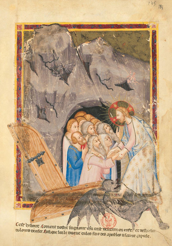 Bible moralisée aus Neapel f. 185r
