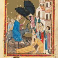 f. 162r: Entrada en Jerusalén (Mateo 21, 1-8)