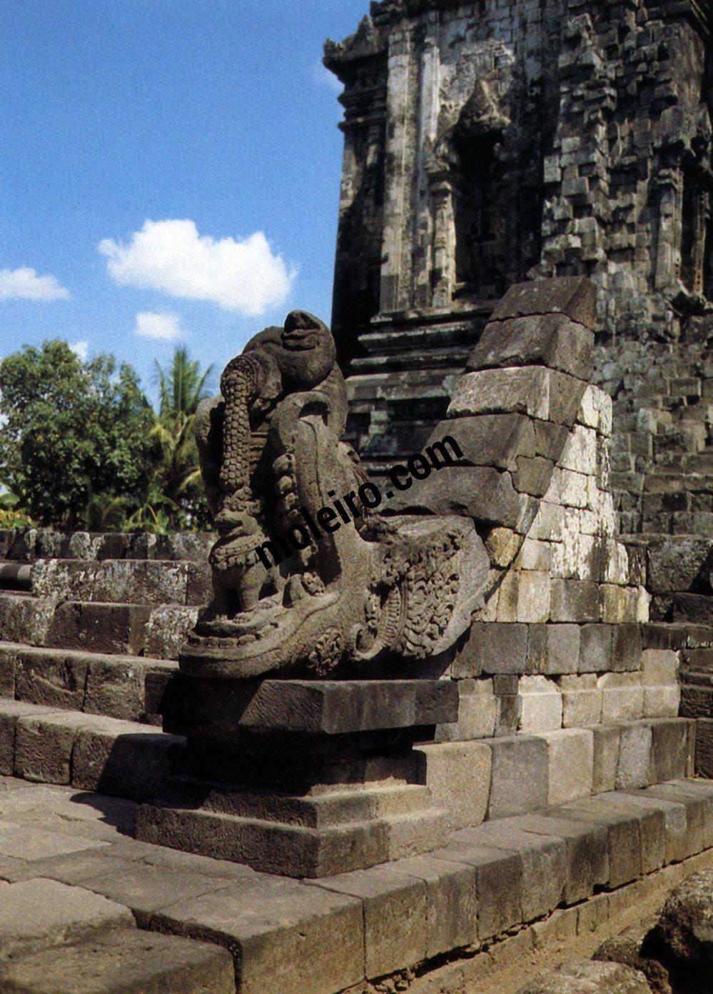 Borobudur Makara decoration of one of the entrances to the Kalasan Chandi.