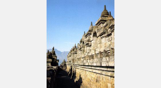 Borobudur Borobudur. Vista general de la cuarta galería