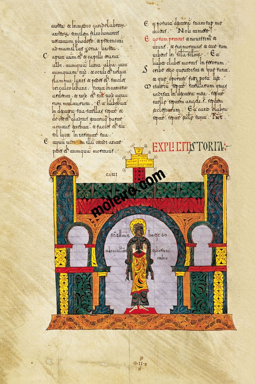 Silos Beatus f. 23v, St John before the city of Ephesus