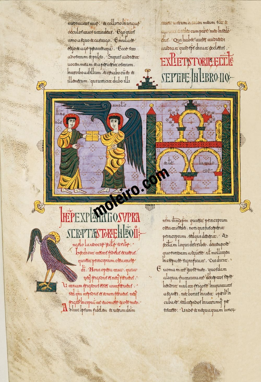 Silos Beatus f. 77v, The message to the Church of Loadicea
