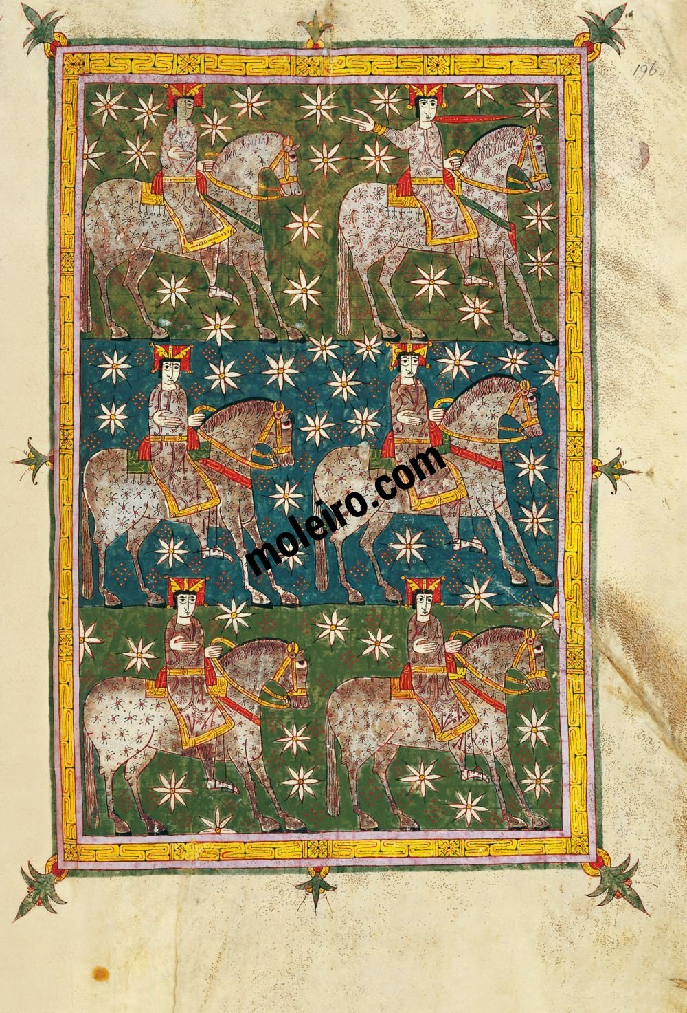 Silos Beatus f. 196r, The Raider Faithfull and True upon the white horse