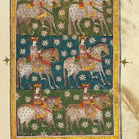 f. 196r, The Raider Faithfull and True upon the white horse