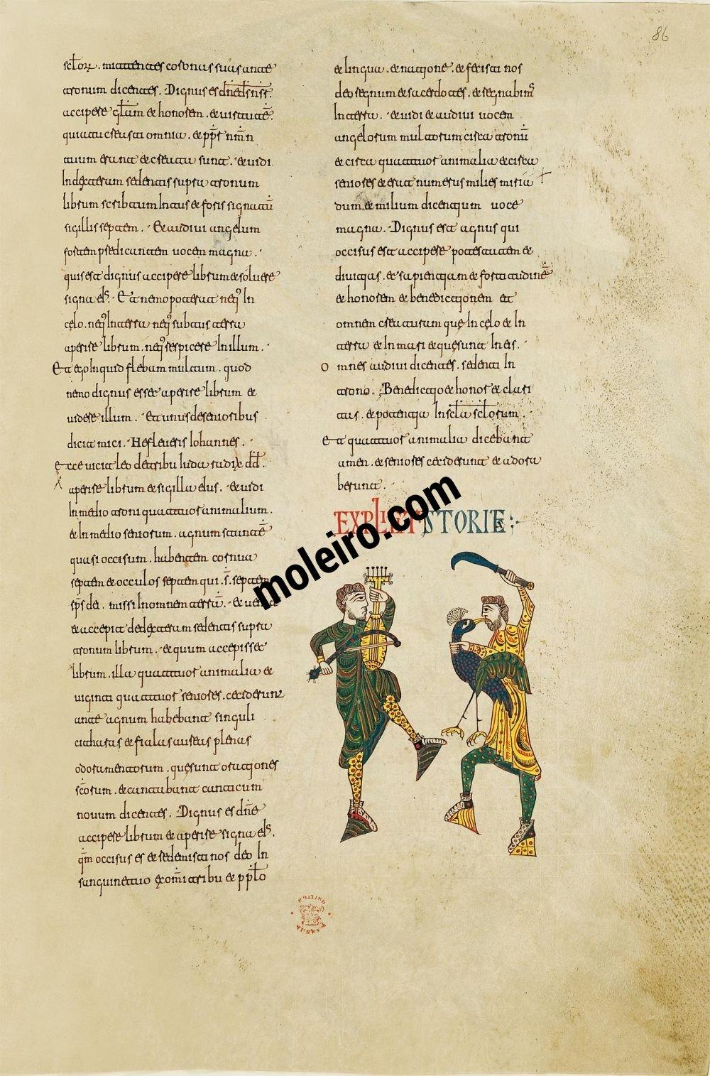 Beato de Silos f. 86r, Two jugglers, Petrus