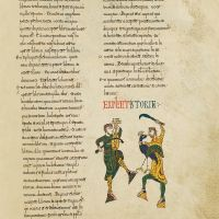 f. 86r, Two jugglers, Petrus