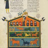 <p>f. 79v, Noah's Ark</p>