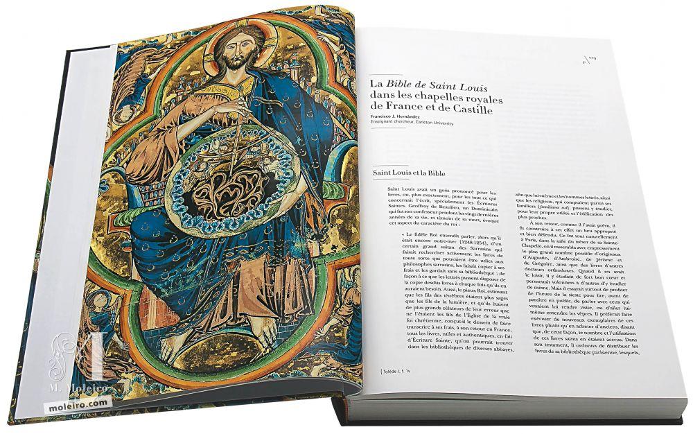 LePantocrator dans la monographie du manuscrit de La Bible de Saint Louis (1226-1234), Église Cathédrale de Tolède, Pierpont Morgan Library, New York