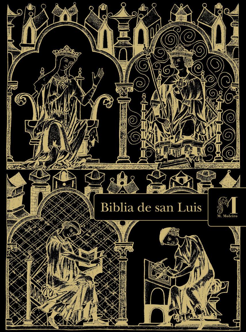 Carpeta con 2 láminas de la Biblia de San Luis: Éxodo 2 láminas casi-originales