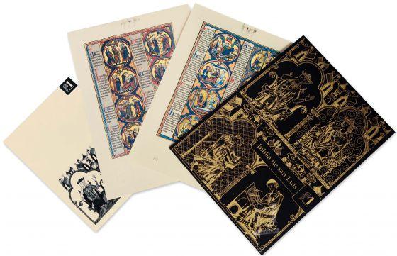 Mappe mit 2 Kunstdrucken aus der Bibel Ludwigs des Heiligen: Exodus