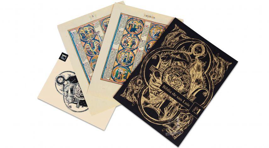 Sélection de deux feuillets tirés de la Bible de Saint Louis: la Genèse 2 feuillets «quasi-originaux»