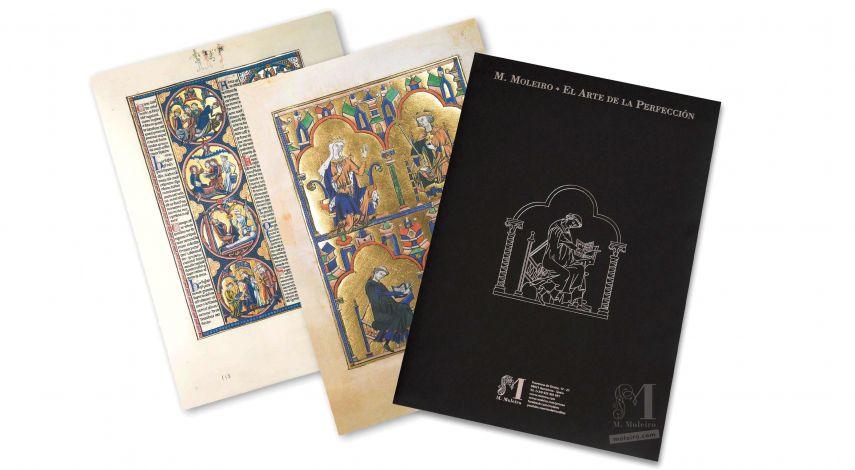 Mappe mit 2 Kunstdrucken aus der Bibel Ludwigs des Heiligen: Königin Blanka von Kastilien und Ludwig der Heilige 2 originalgetreue Nachbildungen
