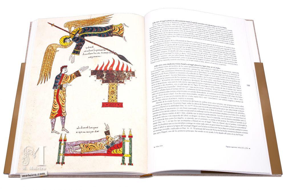 Beato de Silos El ángel Gabriel y la enfermedad de Daniel; el segundo encuentro con Gabriel. Pedro. Folio 245v