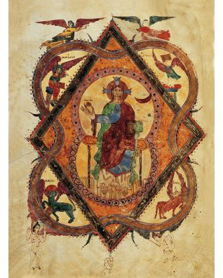 Folder of 5 prints from the Girona Beatus 5 identical illuminations