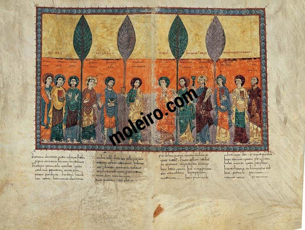 Lamina dei dodici apostoli appartenente al Beato di Girona