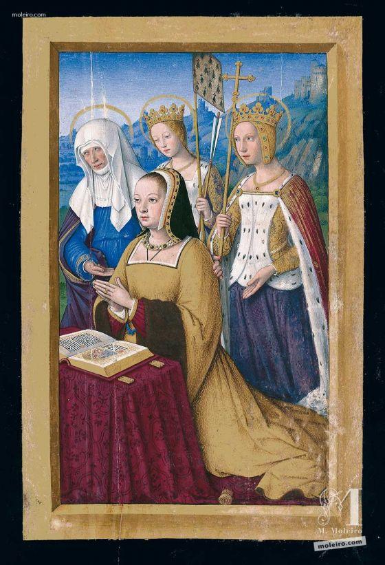 Pasta com 5 lâminas das Grandes Horas de Ana de Bretanha f. 3r