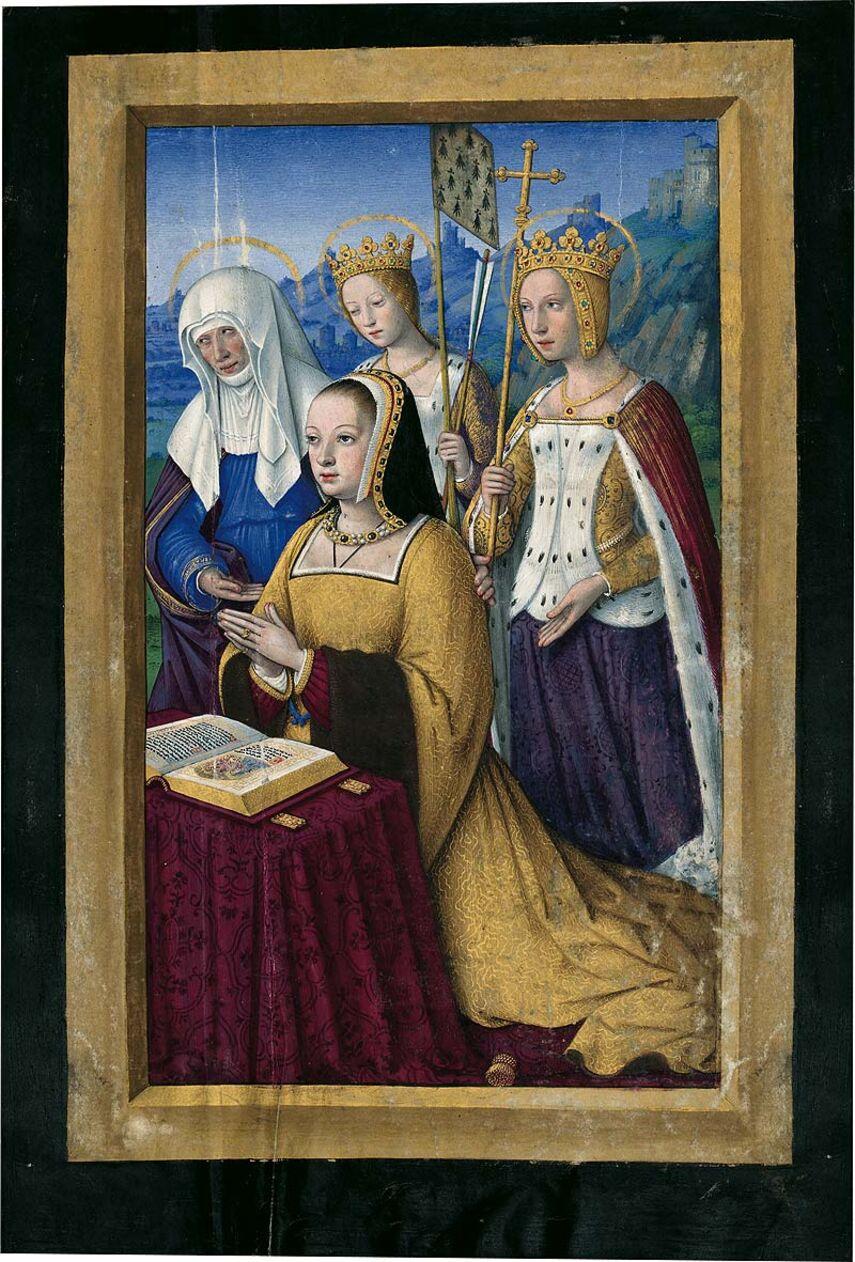 Carpeta con 5 láminas de las Grandes Horas de Ana de Bretaña 5 láminas casi-originales