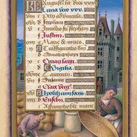 f. 11r, Calendario: Agosto