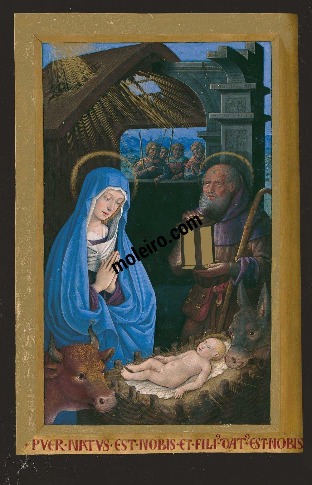 Die Grandes Heures der Anna von der Bretagne f. 51v, Die Geburt Christi