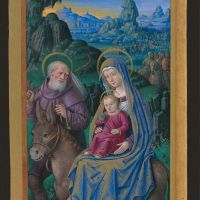 The flight into Egypt, f. 76v