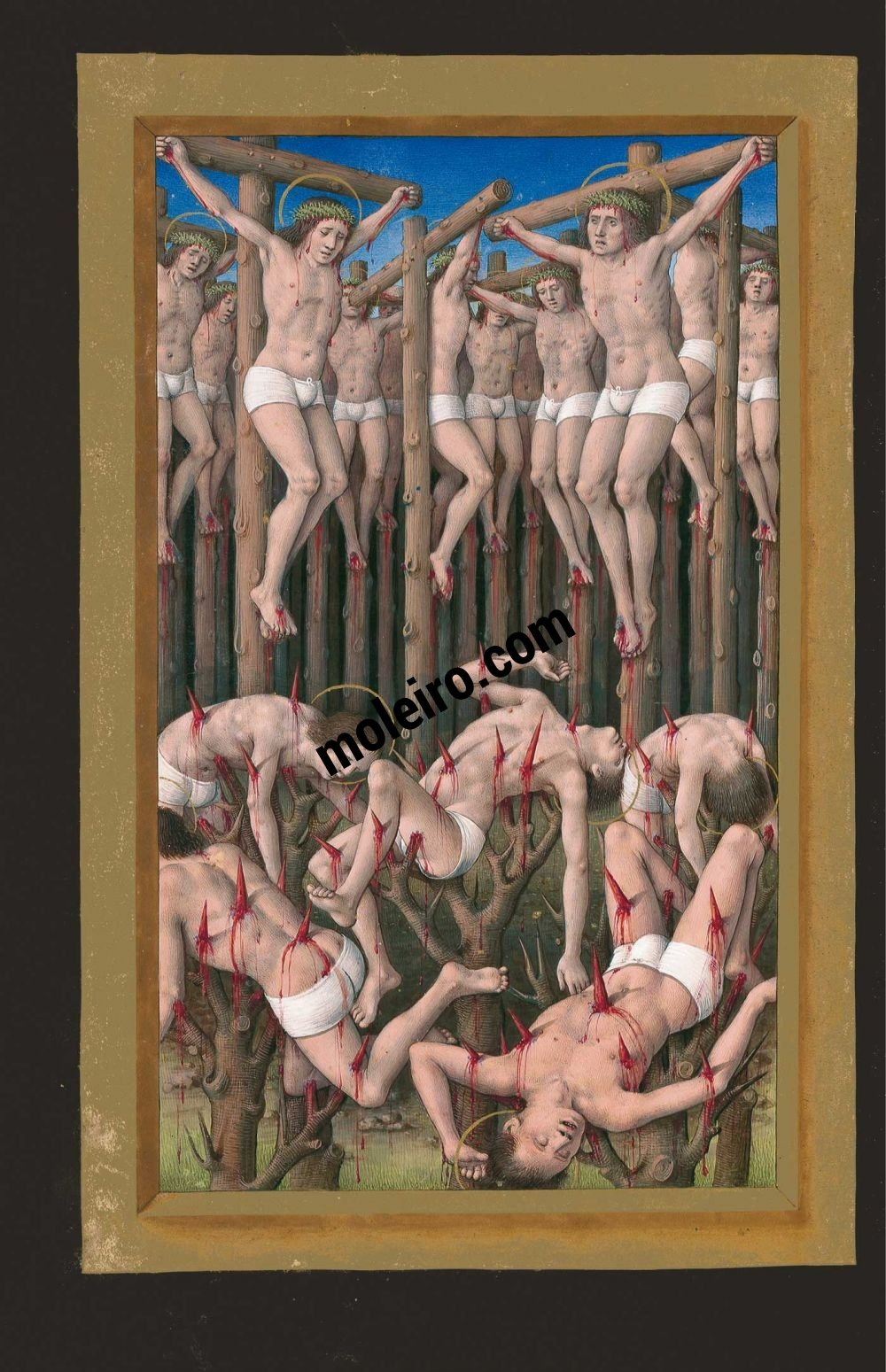 Great Hours of Anne of Brittany Of the ten thousand martyrs, f. 177v