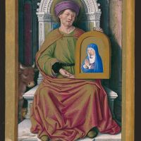 Saint Luke presenting Our Lady's portrait, f. 19v