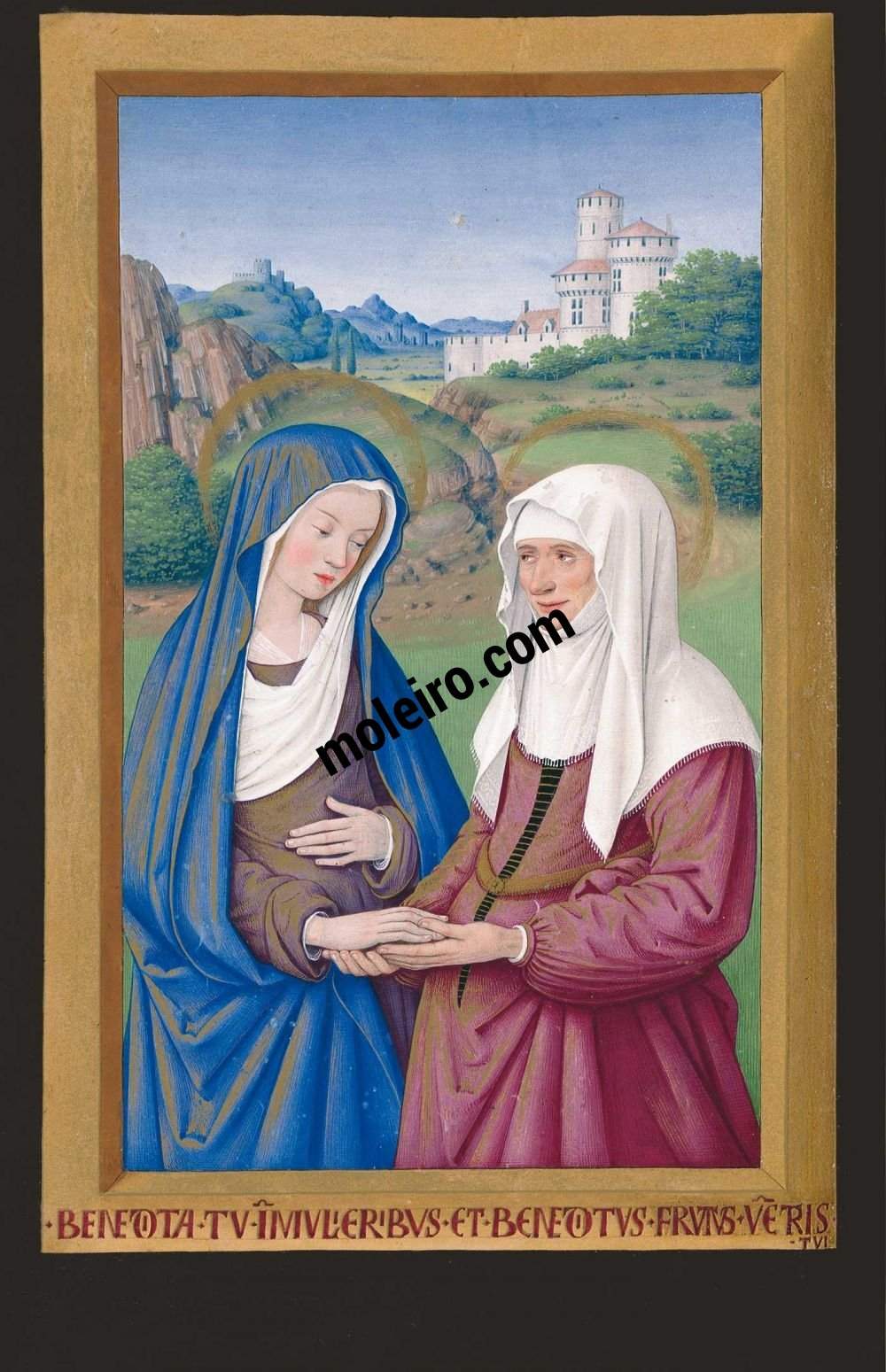 Die Grandes Heures der Anna von der Bretagne f. 36v, Heimsuchung
