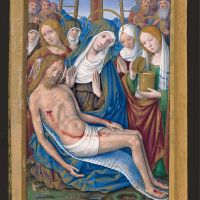 The Lamentation over the dead Christ, f. 2v