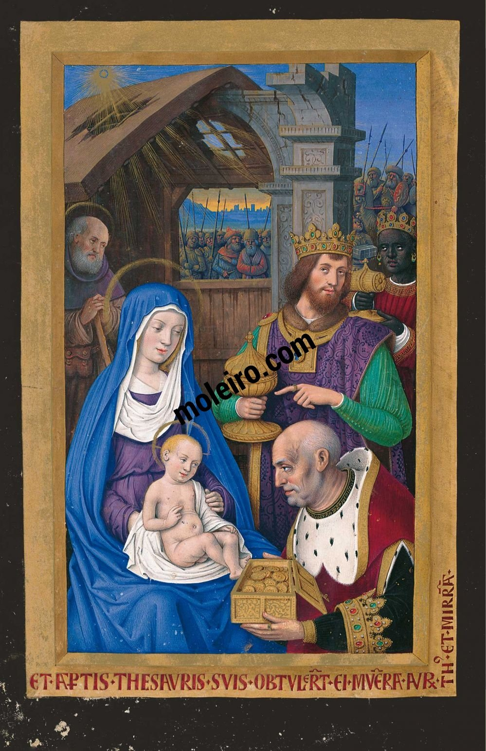 Great Hours of Anne of Brittany The adoration of the Magi, f. 64v