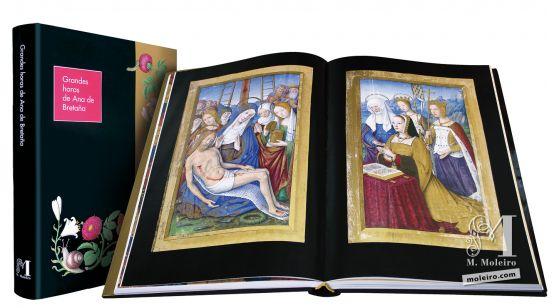 Las Grandes Horas de Ana de Bretaña La Lamentación sobre el cuerpo de Cristo observada por Ana de Bretaña en oración