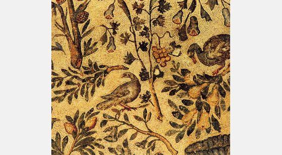 Iglesias de Roma Iglesia de Santa Constacia, detalle de un panel de mosaicos.