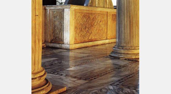 Iglesias de Roma Basílica de Santa Sabina, detalle del cierre del coro.