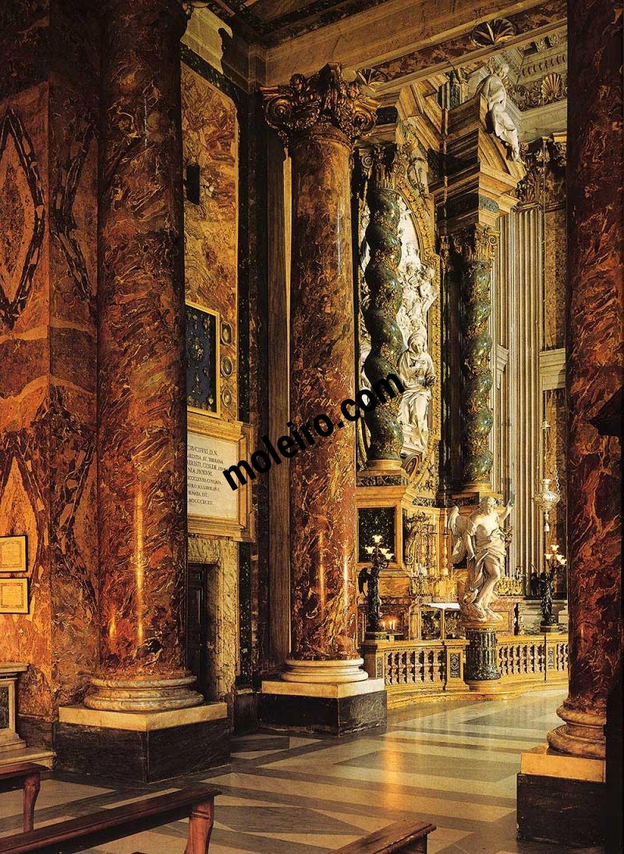 Iglesias de Roma Iglesia de San Ignacio. Vista de tres cuartos hacia el altar de la Anunciación.