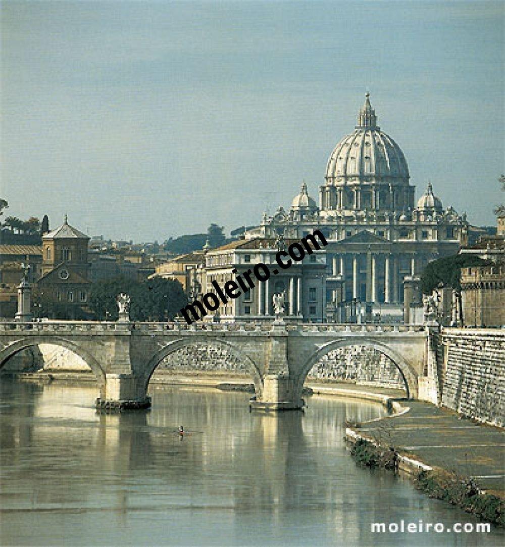 Iglesias de Roma Roma y las cúpulas de sus iglesias. La basílica de San Pedro.