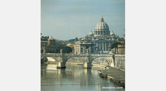 Iglesias de Roma Rome and the domes of her churches. St Peter's Basilica.