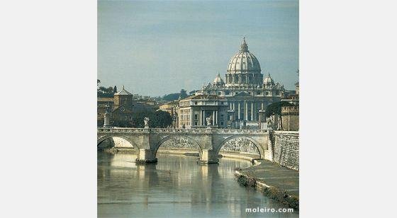 Iglesias de Roma Rome et les coupoles de ses églises. La basilique Saint-Pierre.