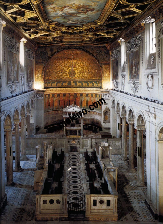 Iglesias de Roma Basilika San Clemente, Innenansicht, 4. Jahrhundert.