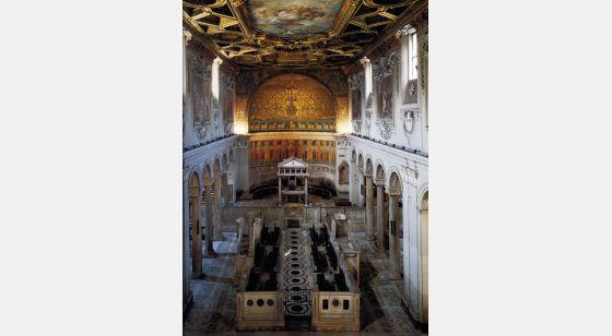 Iglesias de Roma Basilique de Saint Clément, intérieur, IVème siècle