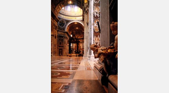 Iglesias de Roma Basílica de San Pedro, nave central, siglo XVI.