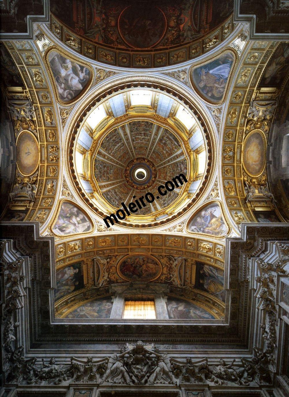 Iglesias de Roma Basilique de Sainte Marie Majeure, chapelle Sixtine et sa coupole, Vème siècle.
