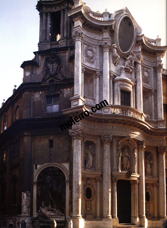 Iglesias de Roma San Carlo alle Quattro Fontane, 17. Jahrhundert.