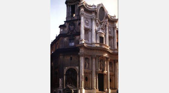 Iglesias de Roma San Carlos de las Cuatro Fuentes, siglo XVII.