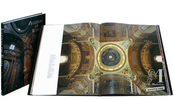Iglesias de Roma Portada y lomo del Iglesias de Roma. Imagen de la cúpula de la iglesia de Sant'Andrea della Valle
