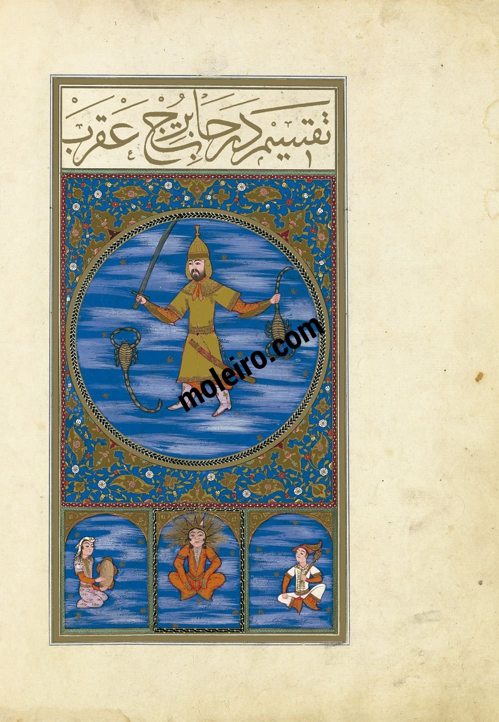 The Book of Felicity f.22v, The Image of Scorpio