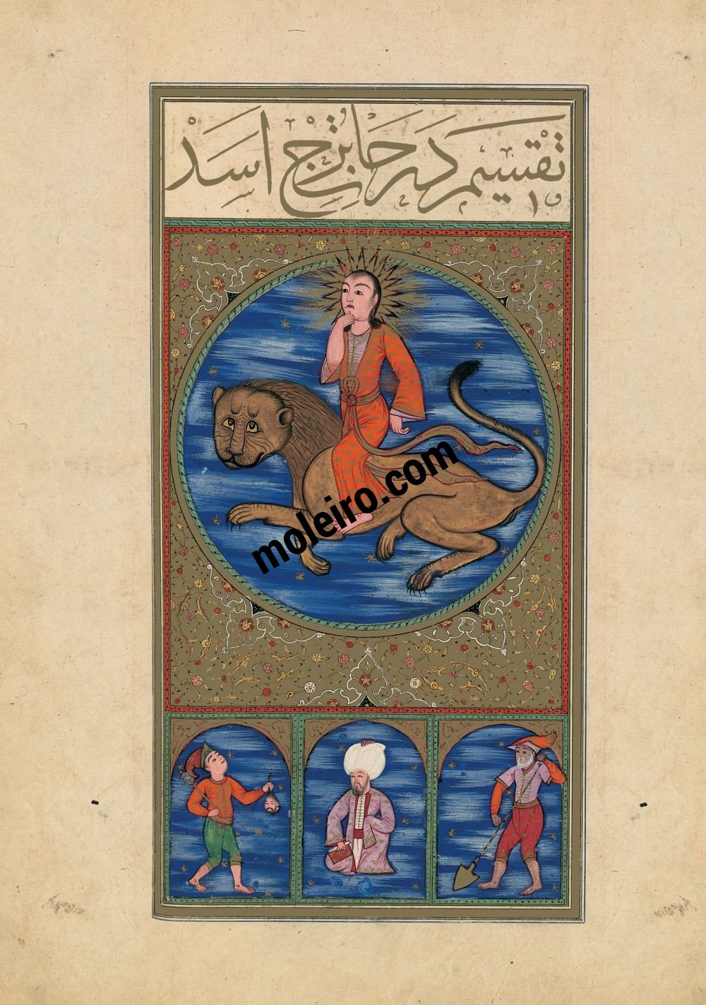 The Book of Felicity f. 16v, The Image of Leo