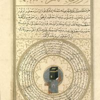 f. 74v, The Image of the Qibla of the World, the Majestic Kacba