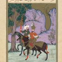 f. 75v, Alexander and Khidr Enter the Land of Darkness