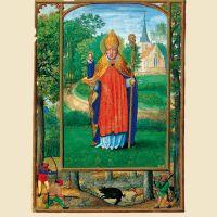f. 1r, Porträt des Bischofs Bonifatius von Lausanne