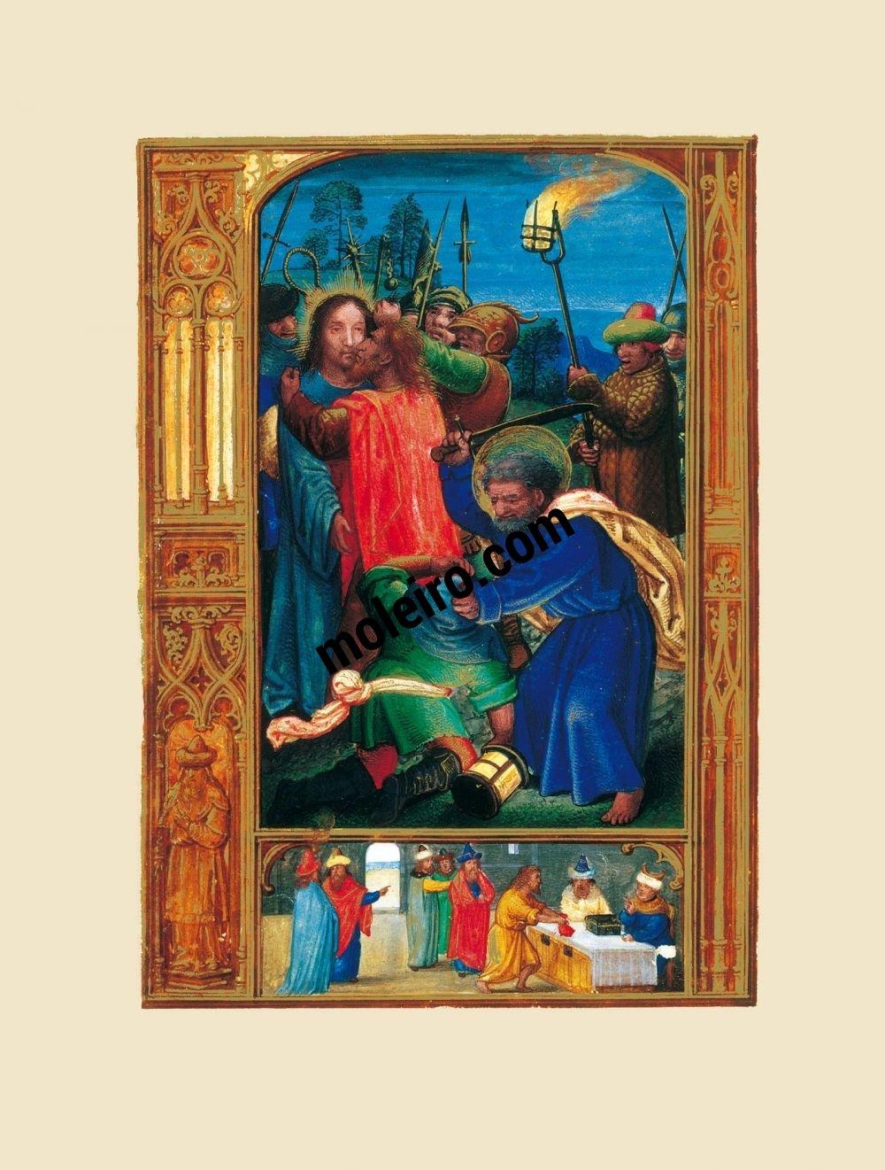 The Golf Book (Book of Hours) f. 4v, Judas's kiss