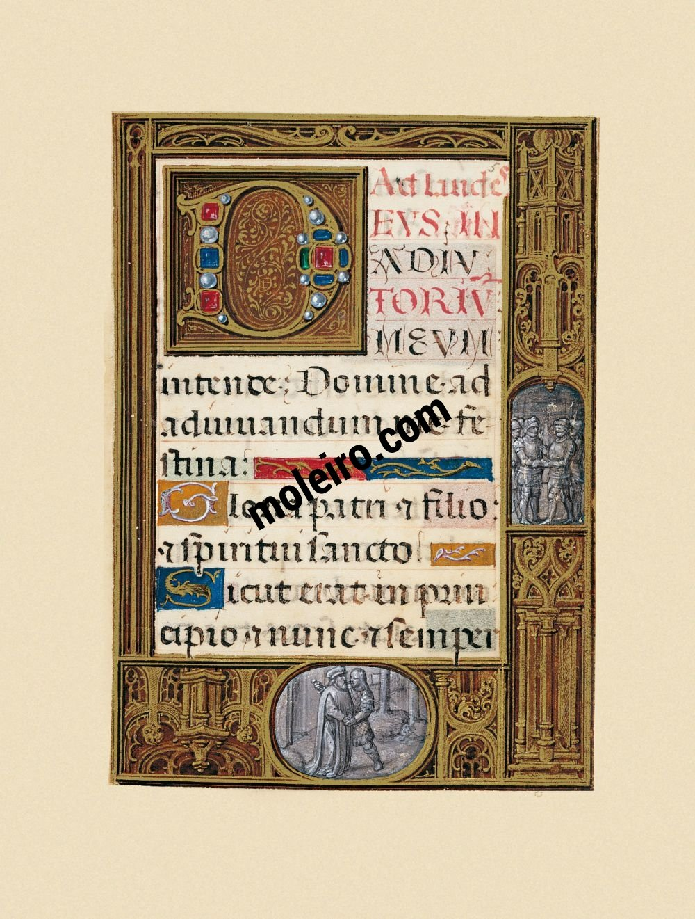 The Golf Book (Book of Hours) f. 5r, Hours of the Virgin – Laudes
